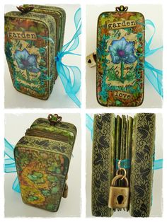 Altered Books Pages, Altered Tins, Altered Art, Domino Crafts, Domino Art, Jewelry Show, Old Jewelry, Jewelry Ideas, Resin Jewelry