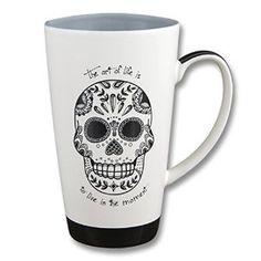Amazon.com: Karma, by Stephen Joseph Black and White Sugar Skull Mug, Multicolor: Kitchen & Dining http://www.skullclothing.net