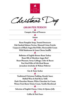 Get yourself in training for Christmas Day at THO (menu below)... Sunday lunch is being served now!