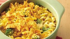 Savor a meatless, six-ingredient casserole that's chock-full of broccoli and cheese.