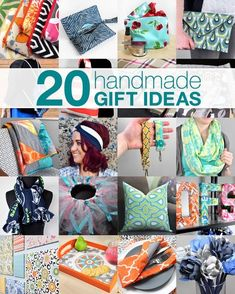 Handmade Gift Ideas & Tutorials I've chosen 20 video tutorial projects that are great handmade gift ideas, including bags and accessories, blankets and quilts, home decor, and crafts. Diy Gifts Cheap, Easy Handmade Gifts, Handmade Ideas, Small Sewing Projects, Sewing Projects For Beginners, Sewing Machine Projects, Christmas Sewing Projects, Fabric Crafts, Sewing Crafts