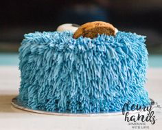 cookie monster cake 3