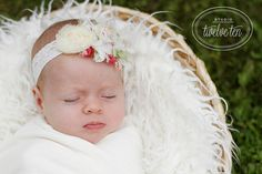 Ivory faux fur newborn photo prop by pinkladybuggirl on Etsy, $16.00