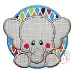 Elephant Circle Applique