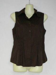 Ann Taylor Size 4 Top Womens Small Shirt NEW Brown ~~~~$19.99