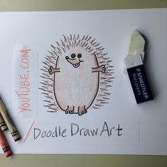 Omigosh! How cute is this hedgehog? Draw it here, with this easy drawing tutorial!