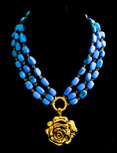 Unbeatable combo - turquoise & gold! Necklace by Helena Karter Jewellery Design!