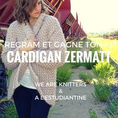 """J'ai testé le kit """"Cardigan Zermatt"""" de la marque de la marque We Are Knitters et je l'ai adoré ! Laissez-moi vous le présenter et vous le faire gagner ! :D"""