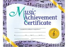 Music Award Certificate Templates Free Inspirational Music Achievement Certificate Pkg 30 X Award Certificates, Gift Certificate Template, Certificate Design, Vision Statement Examples, Music Ministry, Donut Birthday Parties, Cover Letter Example, Inspirational Music, Being A Landlord
