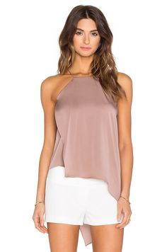 MILLY Ciara Tank in Putty