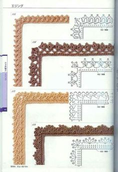Watch This Video Beauteous Finished Make Crochet Look Like Knitting (the Waistcoat Stitch) Ideas. Amazing Make Crochet Look Like Knitting (the Waistcoat Stitch) Ideas. Crochet Border Patterns, Crochet Boarders, Crochet Lace Edging, Crochet Motifs, Crochet Diagram, Crochet Chart, Thread Crochet, Crochet Trim, Crochet Designs