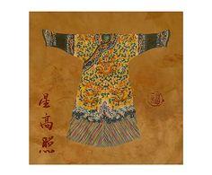 Lienzo sobre bastidor de madera Oriental Style VI - 50x50 cm