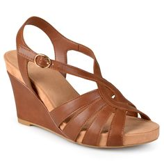 9236b51ad0913 Journee Collection Women s  Cora  Comfort Sole Strappy Wedge Sandals