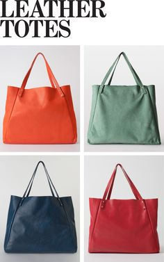 Leather Totes for Fall by American Apparel. WANT.