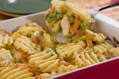 Waffle Fry Chicken Bake: If you keep a few ingredients in your freezer, you'll never be far from a yummy dinner! This easy dinner recipe preps in no time, so you can stick it in the oven and relax.