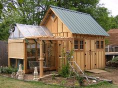 """I built this shed years ago. This shed has a gravel foundation 24"""" deep with railroad ties establishing the perimeter and then framed over, building the shed. The interior floor in both the..."""