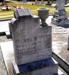 Southern Graves: Marsh B. Wood (Tombstone Tuesday) #genealogy