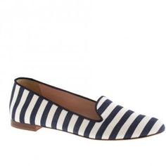 J.Crew Cleo Fabric Loafers in Navy Ivory as seen on Lauren Conrad