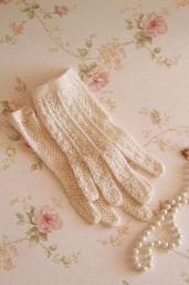 gants crochets vintage
