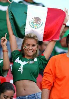 FIFA World Cup starts today and here is a huge sexy World Cup fans post. Sexy girls from all over the world. Enjoy FIFA World Cup starts today and here is a huge sexy World Cup fans post Hot Football Fans, Football Girls, Soccer Fans, Soccer World, Fifa, Hot Fan, Mexico Soccer, Sexy Curves, Girls World