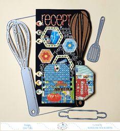 Sewing Machine Stitches, Recipe Journal, Elizabeth Craft Designs, Pink Cards, Glitter Cards, Shaker Cards, Green Pattern, Journalling, Design Crafts