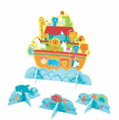 All your party animals will be on board for this find! Perfect for religious party décor, this centerpiece comes designed as a whimsical Noah's . Baby Shower Table Decorations, Baby Shower Themes, Animal Party, Party Animals, Noahs Ark Theme, Unisex Baby Shower, Oriental Trading, Party Supplies, Party Themes