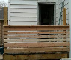 Back Deck's rail.