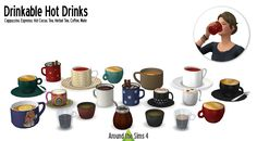 Around The Sims 4 – Hot Drinks for The Sims 4 Les Sims 4 Pc, Sims Four, My Sims, Sims Cc, Sims 4 Game Mods, Sims 4 Mods, Sims Games, Sims 4 Skills, Maxis