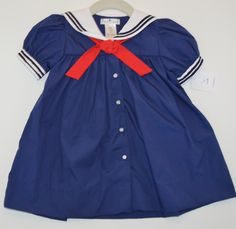 Navy Sailor Dress by Petit Ami from www.oldtownekids.com