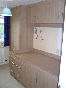 See how you can design & install cabin bedroom fitted furniture in a small space. Even overcoming added problems posed by the stairs bulhead......