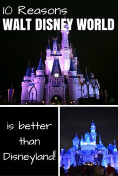 Walt Disney World vs. Disneyland - which one is better? Here are 10 fun reasons why the Florida parks are better than the California ones!
