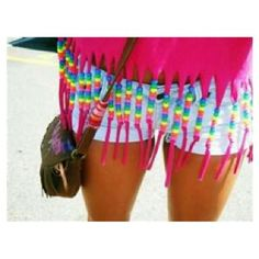 Bead fringe on an old top, cute DIY for summer :3