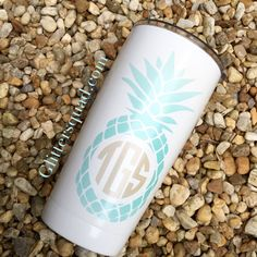Pineapple Monogram 20oz Lil' Boss / Preppy by TheGlitterSquad