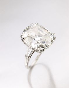 A diamond ring set with a cushion—shaped diamond weighing 19.03 shaped diamond weighing 19.03 carats, Bulgari, 1962 Bulgari Jewels of Legendary Italian Actress Gina Lollobrigida
