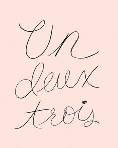 Un Deux Trois Print by Leif. 1,2,3 .. sounds so much better in French! Frame and hang for instant chic!