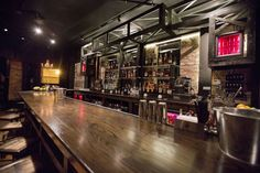 East Room - Logan Square - for beers and whiskey at a secret dive bar. It is marked only by a red light over a door.
