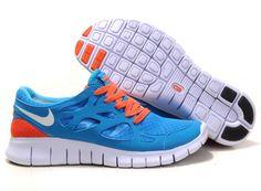 brand new 85b34 73393 Womens Nike Free Run 2 Blue Orange Shoes Adidas Originals, Nike Shoes  Cheap, Nike