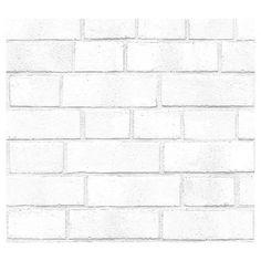 Devine Color Peel and Stick Wallpaper Textured Brick Pattern - White