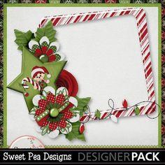 free Raggedy Christmas Frame
