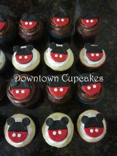 Mickey Mouse Cupcakes- making something similar to these for ben's birthday