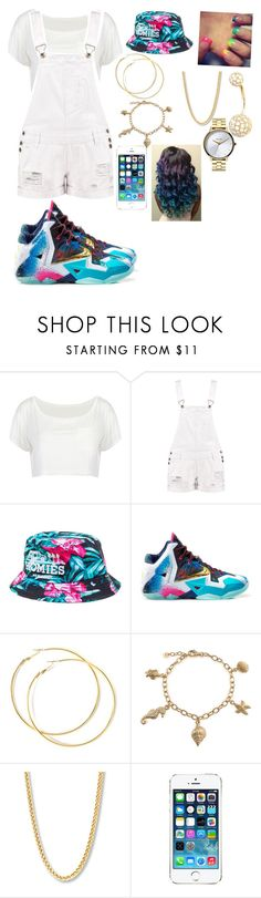 """💙"" by poohbabygurl14 on Polyvore featuring Boohoo, Reason, NIKE, Bling Jewelry and Nixon"