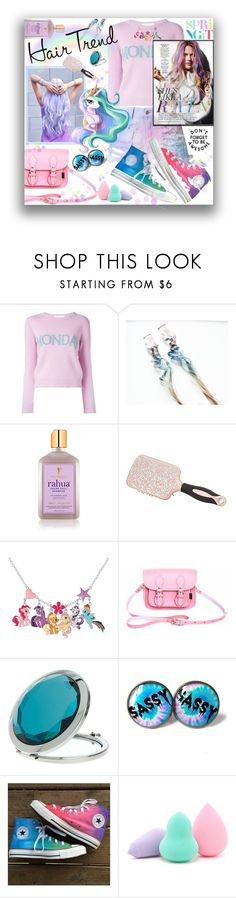 """""""Pastel Rainbow"""" by kitty-kimber ❤ liked on Polyvore featuring beauty, Alberta Ferretti, RAHUA, Charlotte Russe, My Little Pony, Zatchels, Miss Selfridge, Converse, Forever 21 and hairtrend"""