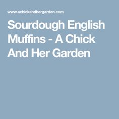 Sourdough English Muffins - A Chick And Her Garden