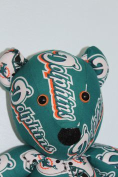 Teddy Bear Dolphins Florida Miami Gridiron Boys of Fall by DoOver, $35.00 DoOver.Etsy.Com