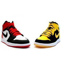 316132 991 Air Jordan 1 Retro DMP (Red - yellow) http://