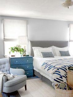 New Bedroom Furniture Placement Layout Window Ideas Bedroom Inspirations, Bedroom Makeover, Bedroom Design, Gray Bedroom, Bedroom Decor, Beautiful Bedrooms, Home Decor, Bedroom Furniture, Blue Gray Bedroom