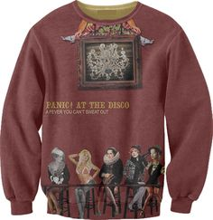 Panic! At The Disco. I love this with a large, burning passion. Plus, it looks really comfy. (DIIIIIIISSSSS)