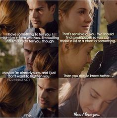 First time Four tells Tris he loves her #thefeelsareback