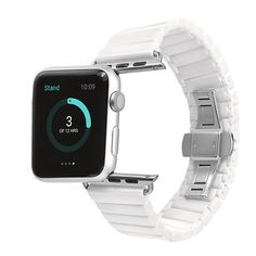 Space Ceramic Watch Band for Apple Watch Band Strap Link Bracelet 38mm 42mm Black White with Adapter for iwatch Link Bracelet