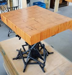 Occasional table - 120 year old Oregon Pine and wrought iron Fine Woodworking, Drafting Desk, Wrought Iron, Craftsman, Oregon, Pine, Table, Furniture, Home Decor
